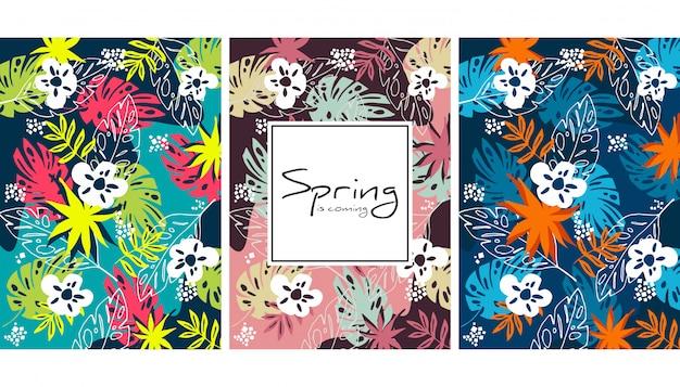 Fond botanique de printemps