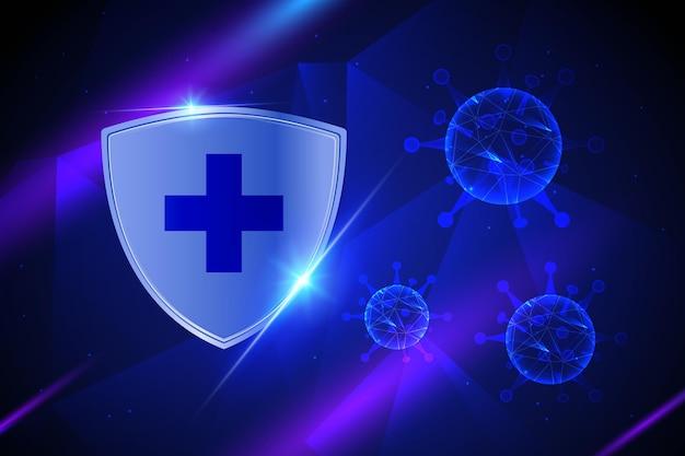 Fond de bouclier de protection contre les coronavirus