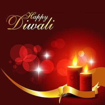 Fond de bougies diwali