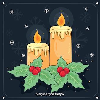 Fond de bougies de noël