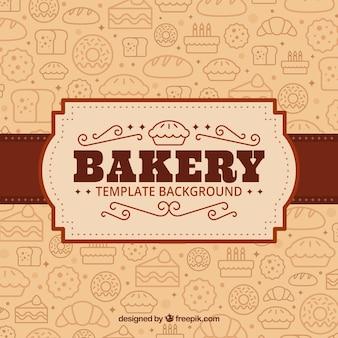Fond de boulangerie dans un style plat
