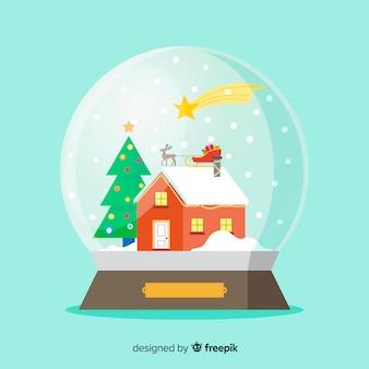 Fond de boule de neige de noël