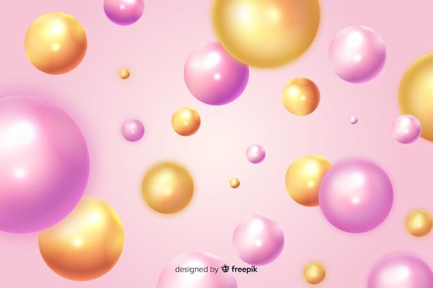 Fond de boules brillantes qui coule réaliste