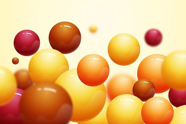 Fond de boules en plastique réaliste brillant