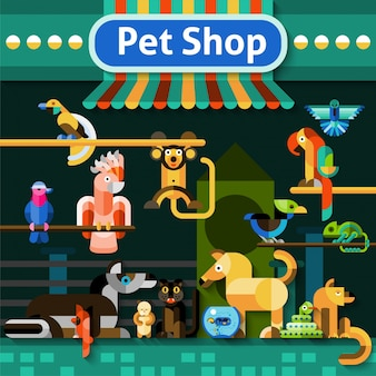 Fond de la boutique pet shop