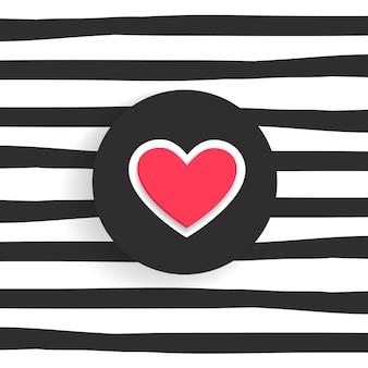 Fond branché avec forme de coeur
