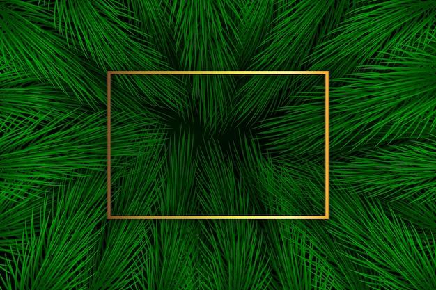 Fond de branches de sapin de noël réaliste