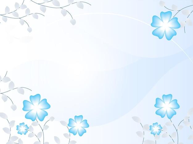 Fond brillant décoré de fleurs