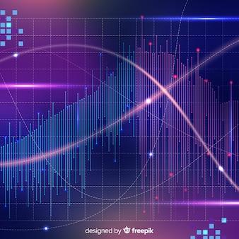 Fond brillant de données volumineuses dans un style abstrait