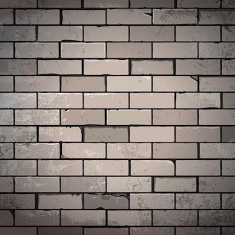 Fond de briques dessinées à la main