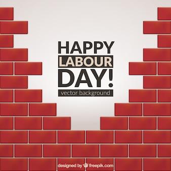 Le fond de briques jour de travailleur