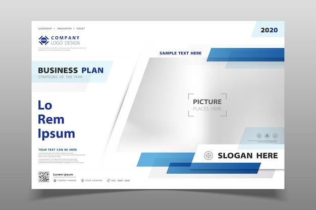 Fond de brochure modèle abstrait couleur bleu moderne