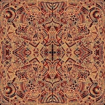 Fond brun aztec
