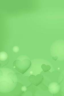 Fond de bulle coeur rose