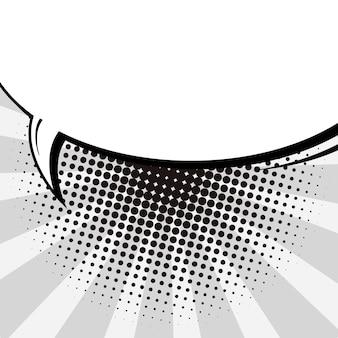 Fond de bulle de discours vide de style bande dessinée pop art.