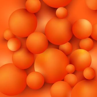 Fond de bulle orange