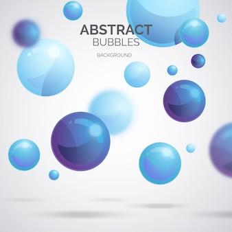 Fond de bulles abstraites