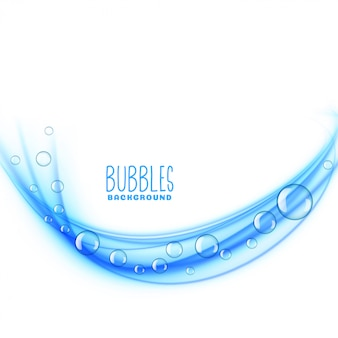 Fond de bulles bleues ondulées
