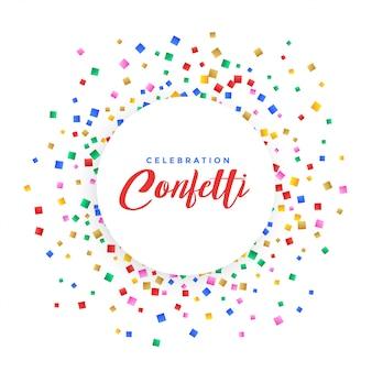 Fond de cadre abstrait confetti coloré