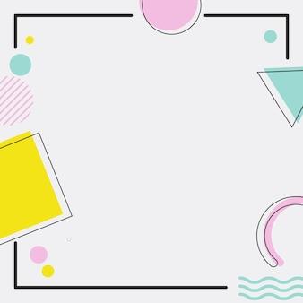 Fond de cadre abstrait memphis. illustration vectorielle. abstrait.
