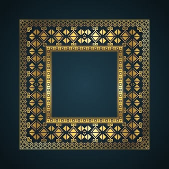 Fond de cadre de bordure de style aztèque
