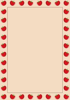 Fond de cadre de bordure de tomate. illustration vectorielle. abstrait.