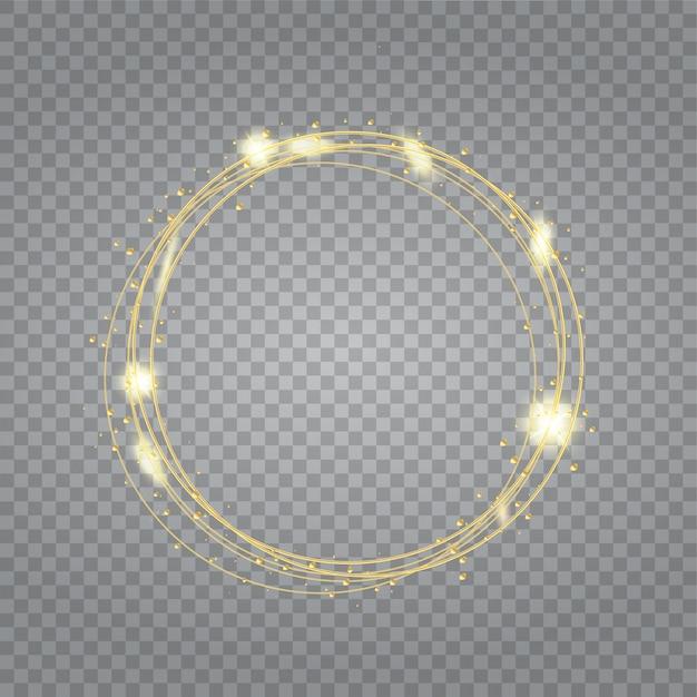 Fond de cadre brillant rond avec éclats légers.