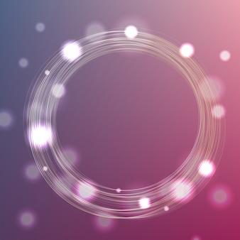 Fond de cadre de cercle avec bokeh