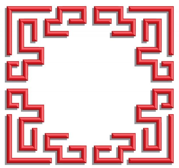 Fond de cadre chinois 3d