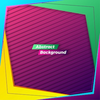 Fond de cadre coloré abstrait dynamique