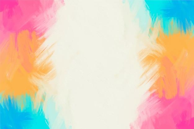 Fond de cadre coloré peint à la main et espace de copie blanc