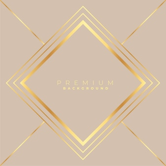 Fond de cadre doré en forme de diamant