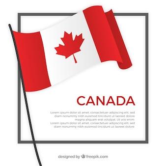 Fond de cadre de drapeau canada
