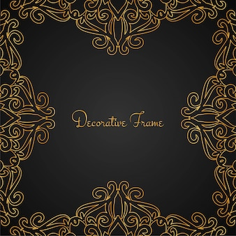 Fond de cadre élégant luxe doré