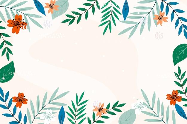 Fond de cadre espace copie florale