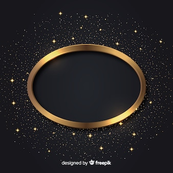 Fond de cadre étincelant de luxe doré