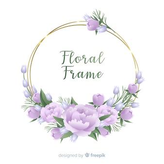 Fond de cadre fleur dessiné à la main