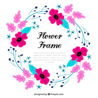 Fond de cadre fleur multicolore
