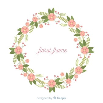 Fond de cadre fleur plate