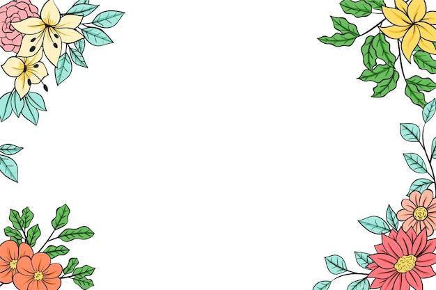 Fond de cadre floral beau et délicat