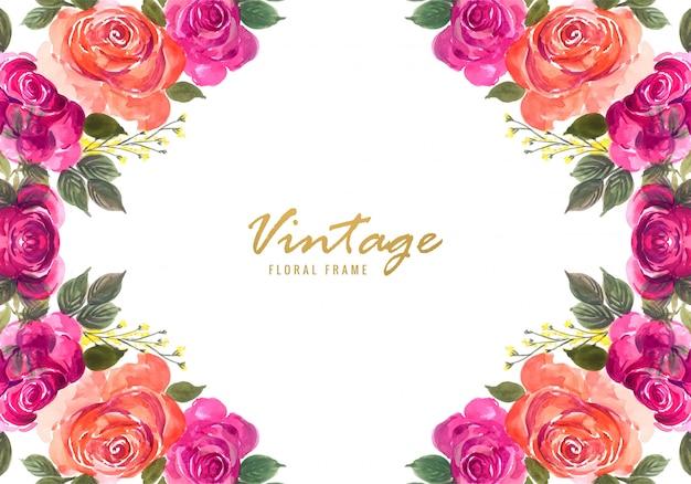 Fond de cadre floral beau mariage décoratif coloré