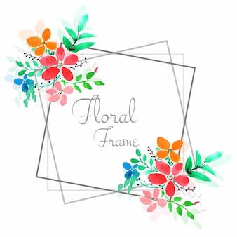 Fond de cadre floral coloré moderne