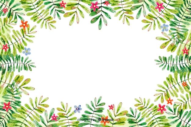 Fond de cadre floral décoratif aquarelle