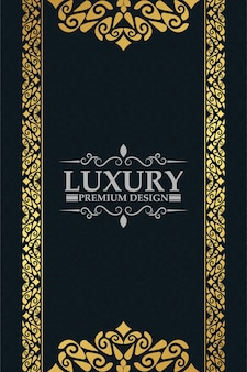 Fond de cadre floral décoratif or de luxe