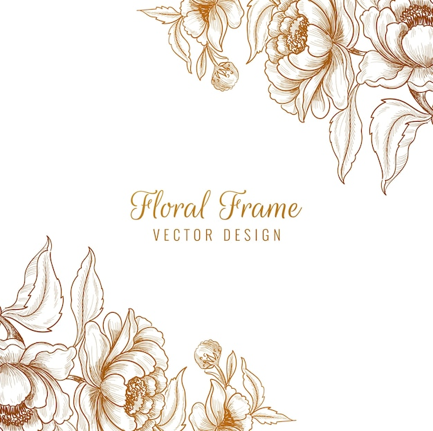 Fond de cadre floral décoratif ornemental