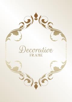 Fond de cadre floral décoratif