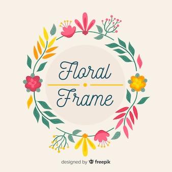 Fond de cadre floral dessiné à la main