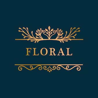 Fond de cadre floral doré