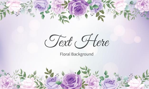 Fond de cadre floral élégant avec de belles fleurs