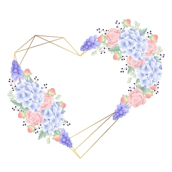 Fond de cadre floral avec l'hortensia